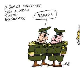 Resultado de imagem para militares no governo charges