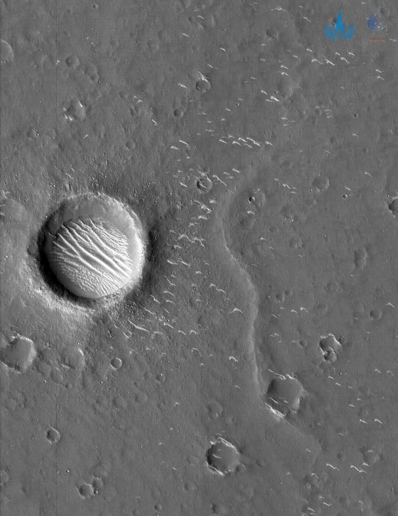 Foto de Marte enviada pela Tianwen-1. Créditos: Divulgação/CNSA